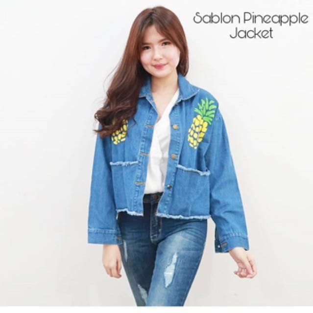 Sablon Pineapple Jacket