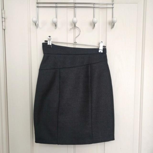 SHEIKE Assymetrical Metallic Skirt - Size 6