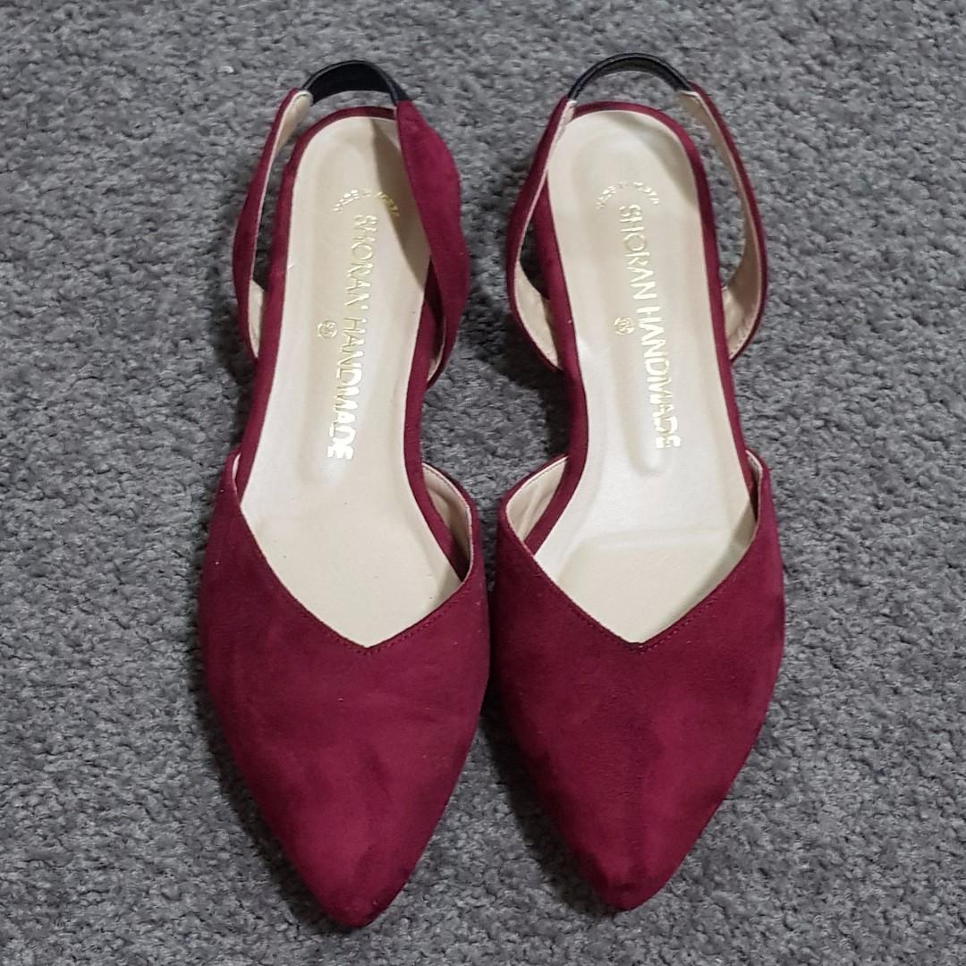 Shoran Handmade - Wine Red Sandals