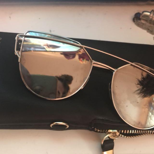 Silver reflective shades