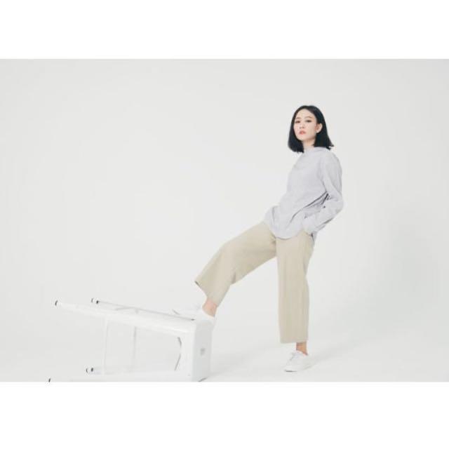 Soulsis 韓國羊毛直筒九分褲 #nude studiodoe room4 92pleats 2143