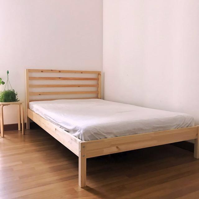hot sale online b212d e3a80 (SUPER SINGLE BED) : TARVA Bed Frame + HAFSLO Sprung Mattress