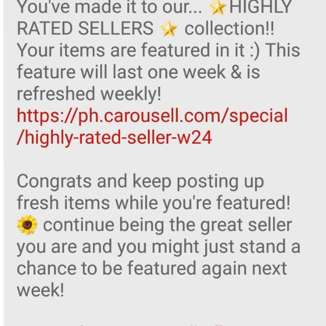 Thank you Carousel! :-)