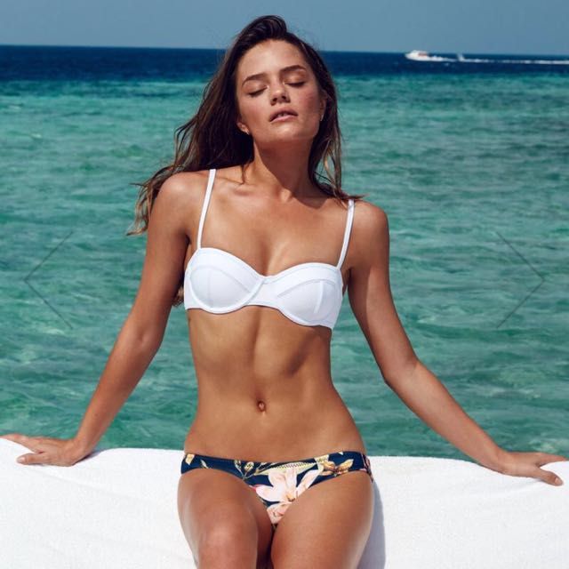 "TRIANGL Bikini Set Neoprene White Balconnet Floral Print ""Confetti Garden"""