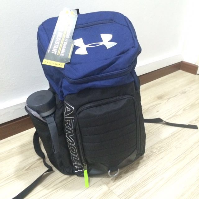 ceb675ef2f UNDERARMOUR UA HUSTLE BACKPACK FOR SPORTS BASKETBALL SOCCER TRAVEL ...