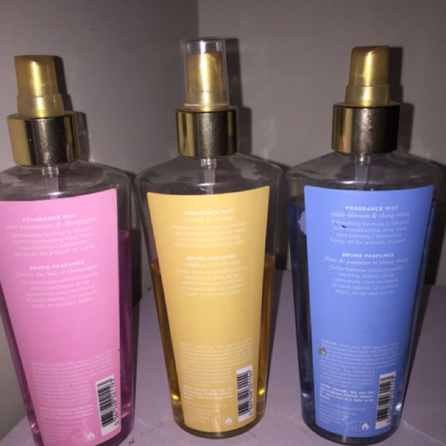 Victoria Secret Body Mists - Coconut passion, Endless love and strawberries and champagne