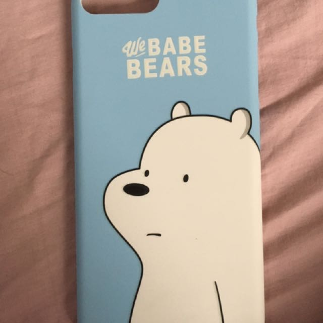 We bare bear and glitter cases