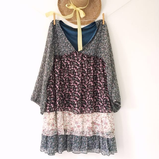 Willow Amongst The Wild flowers - Bohemian Flare Dress.