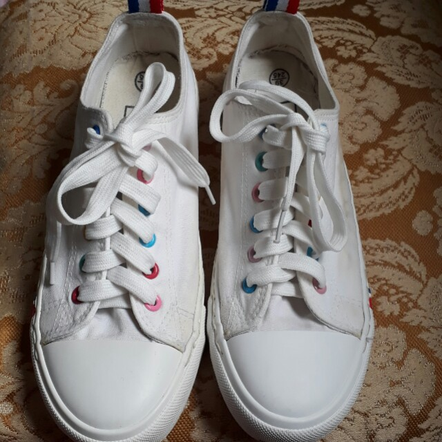 Young blood white multicolor sneaker