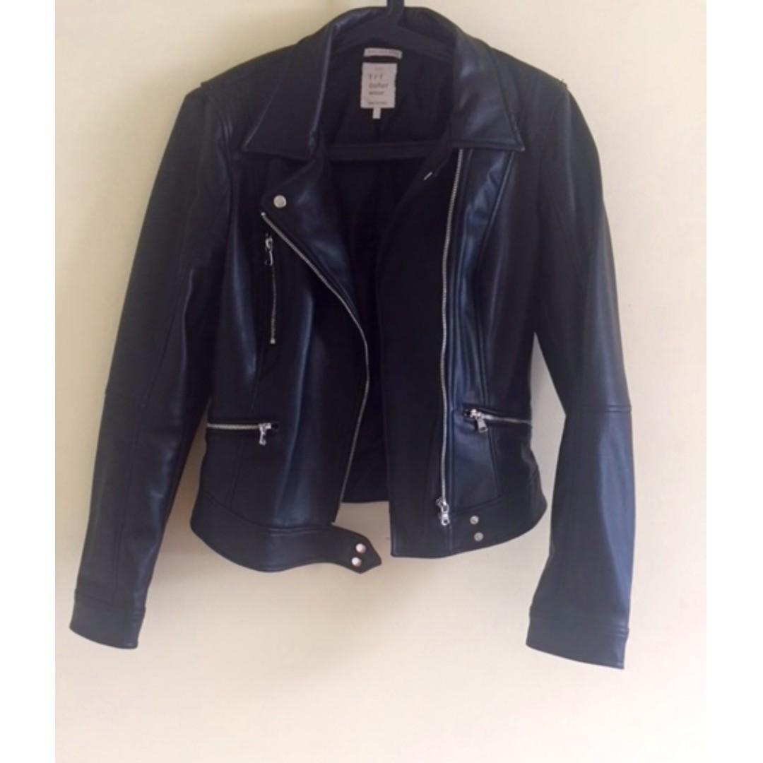 ZARA Faux Leather Jacket - Size M - Barely Worn