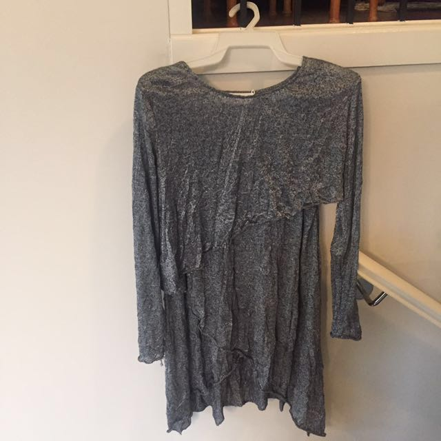 Zimmerman Silver Crushed Two Piece Dress