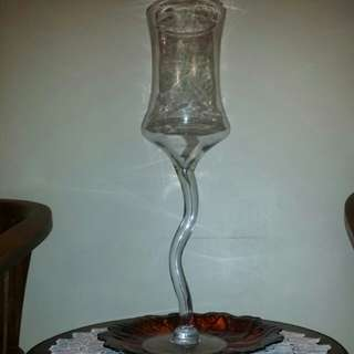 Gigantic glass cylinder deco (2 pcs)