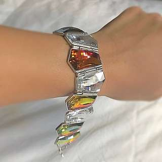 Swarovski Bracelet (retailed at $300+) - Bracelet clasps together, just not clasped together in the pics