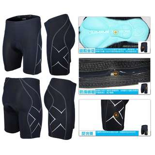 Brand New Bicycle Shorts With Pad 原裝正貨[ARSUXEO]反光X側花有內墊中褲