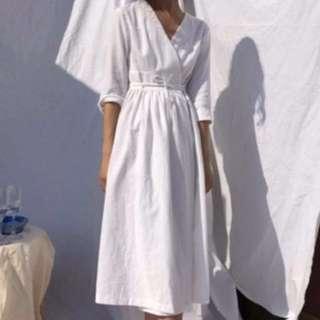 韓國設計師品牌nonerd 和服領開襟罩衫洋裝 nude studiodoe room4 soulsis
