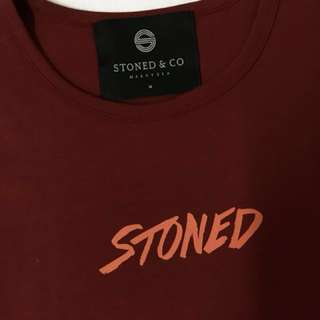 Stoned and Co Genetic Maroon Plain T