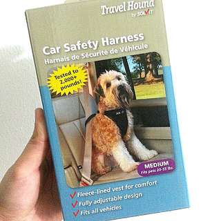Travel hound car safety harness for dogs
