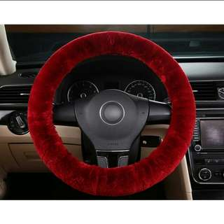 Fluffy Red/Pink Steering Cover Car accessories