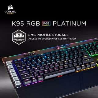 Corsair K95 RGB Platinum Fully Mechanical Gaming Keyboard