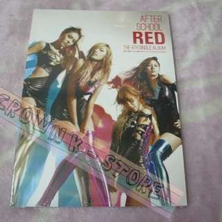 [CRAZY DEAL 70% OFF FROM ORIGINAL PRICE][READY STOCK]AFTER SCHOOL RED KOREA SINGLE ALBUM (NO POSTER) SEALED ! NEW!OFFICIAL ORIGINAL FROM KOREA (PRICE NOT INCLUDE POSTAGE)PLEASE READ DETAILS FOR MORE INFO