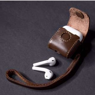 The Premium high-grade UT DCB real Leather Apple Airpods Pouch