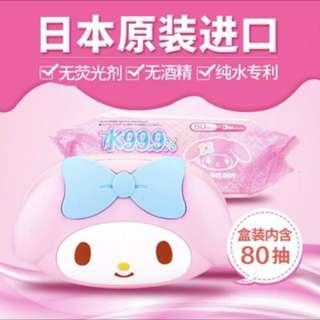 Hello kitty & Melody 濕紙巾盒