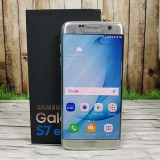 Samsung Galaxy S7 Edge 32GB single sim silver super mulus murmer ex samsung internasional