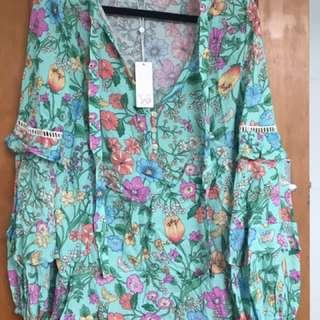 Spell Sayulita blouse BNWT size small