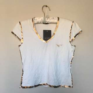Authentic Distressed Armani Jeans Tshirt