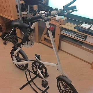 Folding Bike n Stand (80% new) lights, bell n bottle cage too!