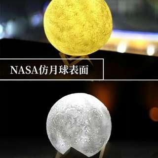 ⊱ 13CM NASA仿月球表面⊰ Mini月球檯燈