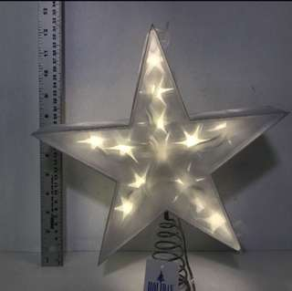 """HOLIDAY MEMORIES 12"""" TWINKLING LED STAR TREE TOPPER"""