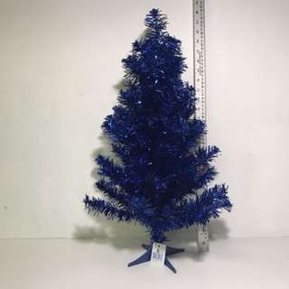 HOLIDAY MEMORIES 2FT TINSEL TREE JOLLY HOLIDAY (BLUE)