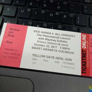Vice Ganda Concert Ticket