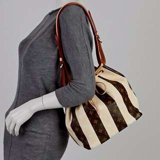 LOUIS VUITTON limited edition mono rayures petit noe bag (2011)