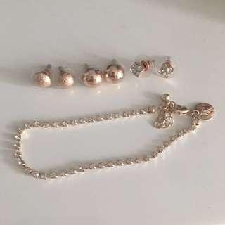Michellous earrings and bracelet from lovisa