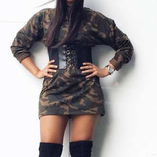 M Boutique Camo Dress