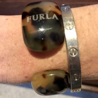 Authentic FURLA Cuff Bangle Made In Italy 🌸