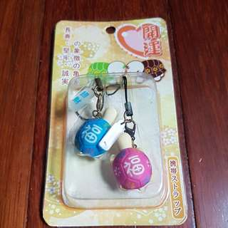 Cute lucky turtle couple keychains