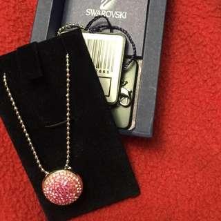 Pink and white Swarovski necklace