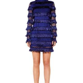 Mossman Blue fringe dress