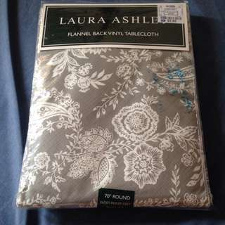 Laura Ashley Flannel Back vinyl tablecloth