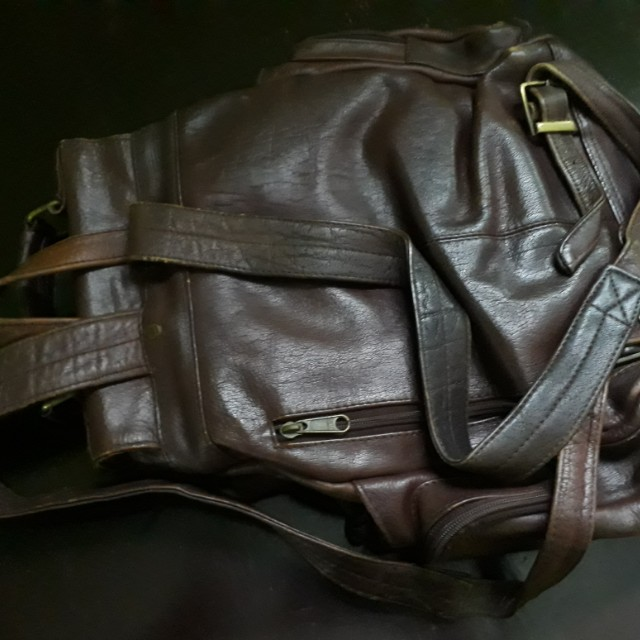 100% genuine leather back bag
