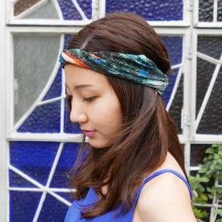 織林 頭巾 蝴蝶