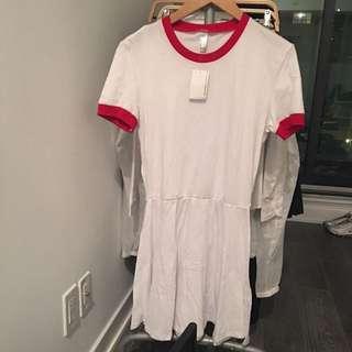 MEDIUM AMERICAN APPAREL RINGER TSHIRT DRESS