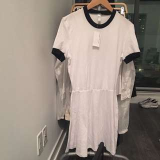 MEDIUM AMERICAN APPAREL TSHIRT RINGER DRESS