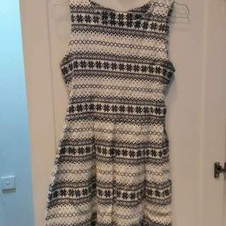 Mini dress snowflake pattern