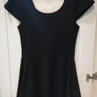 Black butterfly dress