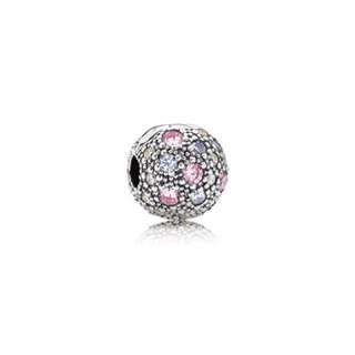 Pandora abstract silver clip with mult