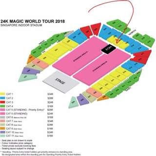 BRUNO MARS SINGAPORE VIP TICKET - 24K MAGIC WORLD TOUR